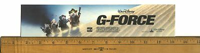 "G-Force (2009) Box Office Movie Theater Mylar 2.5"" X 11.5"""