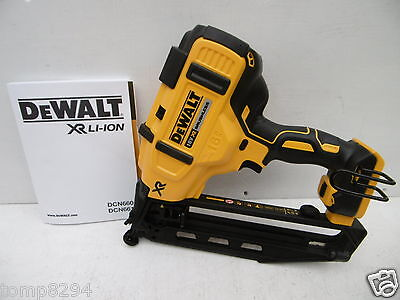 Brand New Dewalt Xr 18V Dcn660 2Nd Fix Nail Gun Bare Unit + Concealer Goggles