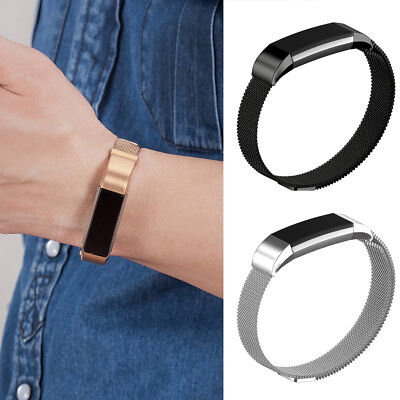 Adult/Kids Replacement SS Magnetic Milanese Bands Strap For Fitbit Alta HR ACE