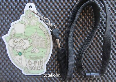 Disney DLR - Haunted Mansion O'Pin House Event Credential Plastic Lanyard