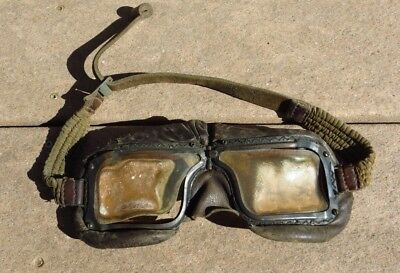 Original WW2 British Canadian RAF RCAF Mk III-A Flight Goggles Common Wealth