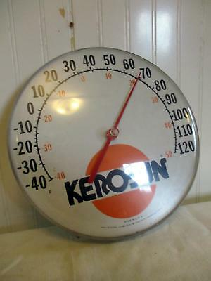 """Rare Kero-Sun 12"""" Inch Round Advertising Thermometer Bubble Face Made In U.S.A."""