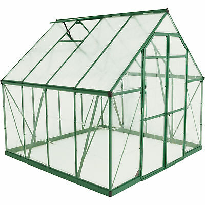 Pelram Balance Hobby Greenhouse - 8ft. x 8ft., Green Frame, Model# HG6108G