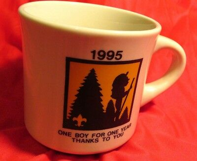 Vintage 1995 Bsa Boy Scouts Of America One Boy For One Year Thanks To You Mug