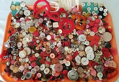 Lot of 11+ Lbs Antique/Vintage Sewing Buttons Metal Glass Bakelite MOP Figural