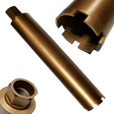 "2.5 "" Wet Diamond Core Drill Bit for Concrete 1-1/4"" -7 Thread 15.5 Dept Drill"