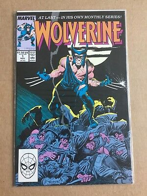WOLVERINE #1 1988 COMIC Fist Appearance of Patch JOHN BUSCEMA 1st Regular Series