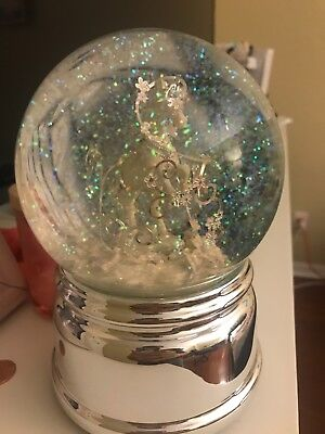 Pretty Unicorn Pegasus Girl Bedroom Fantasy Snow Globe Pink White
