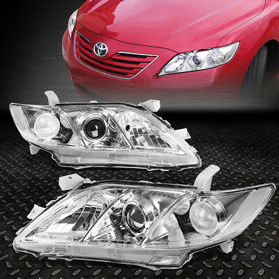 For 2007-2009 Toyota Camry Chrome Housing Clear Corner Projector Headlight/lamp