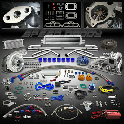 T04 19P T3 400+Hp Turbo/charger Kit+Manifold+Intercooler For 240Sx S13/s14 Sr20