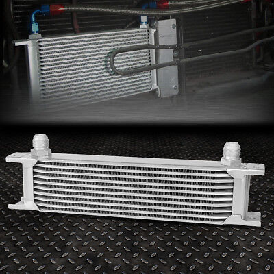 Universal 10-Row 10An Coolant/transmission/engine Oil Cooler Extra Radiator Kit