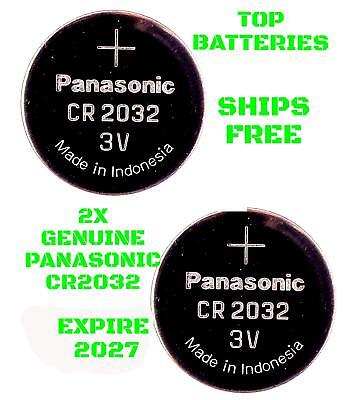 2 Panasonic CR2032 Batteries Expire 2027 Lithium CR 2032 Button Battery Cell
