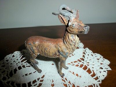 Vintage Metal Reindeer 40's Or 50's Very Good Condition Made In Germany *look!*