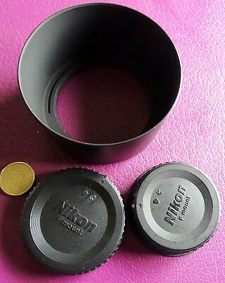 Vintage Nikon Camera Parts As Pictures Covers & Lens Hood