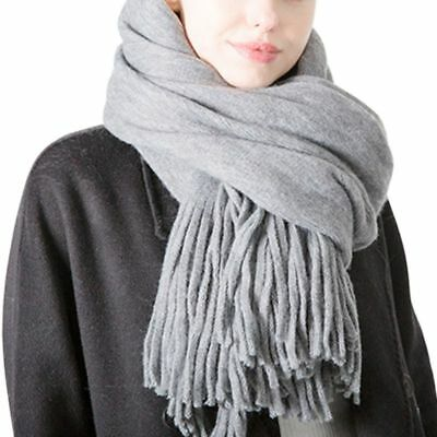 Women Winter Thick Warm Scarves Artificial Wool Cashmere Stole Scarf Shawl Wraps