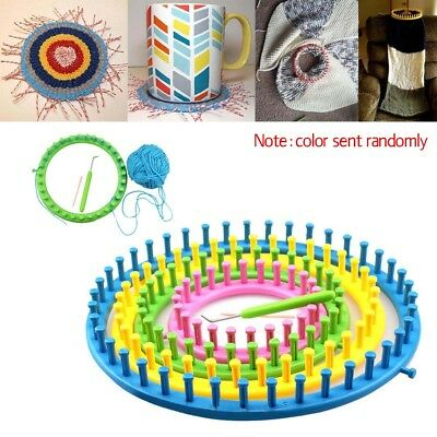 Plastic Round Circle Hat Scarf Sweater Flower Loom Set DIY Wool Knit Tool Hot