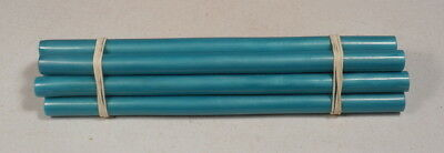 Beautiful rare lot of galalith blue marbled 8 rods 265 grams