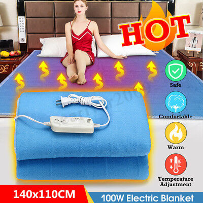 Electric Heated Blanket Adjustable Warmer Radiation-Free Queen Size For Bedding