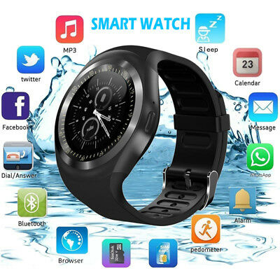 Waterproof Bluetooth Smart Wrist Watch Phone Mate SIM GSM Fr Android Sumsung Lot