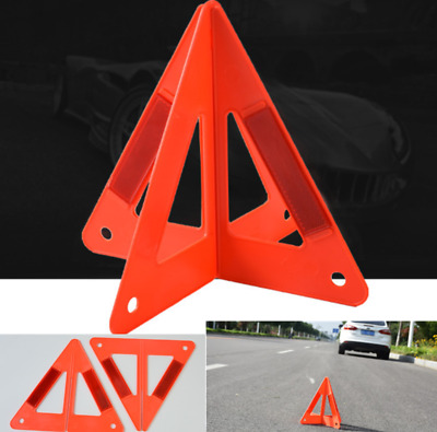 Car Warning Triangle Reflective Sign Road Emergency Breakdown Safety Hazard Warn