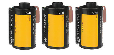 3 Rolls Kodak Professional Portra 160 Color Negative Film 35mm 36 Exposures