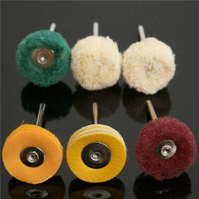 Polisher Buffer Wheel Polishing Buffing Pad Brush Kit For Rotary Drill Bit 6pcs