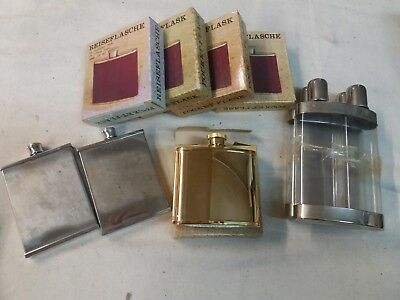 Box of Pocket Flasks x 7, old stock, BARGAIN PUB COLLECTABLES #246
