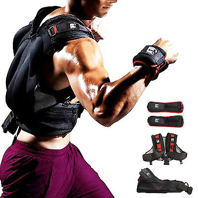 Weighted Vest Cross Training Ankle / Wrist  Weights Gym Fitness Strength Set 9kg
