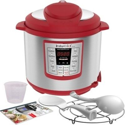 NEW Instant Pot Lux 1000W Electric Pressure Cooker with Accessories - Red