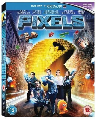 Pixels [Blu-ray + UV Digital HD] EXCLUSIVE GIFT WRAP & MESSAGE OPTIONS AVAILABLE
