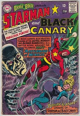 Brave And The Bold #61, Dc Comics 1965, Gd/vg Condition, Starman & Black Canary