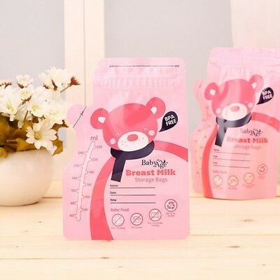 250ml Breast Milk Storage Bags 30pcs/Kit Disposable Freshness Protection Cute