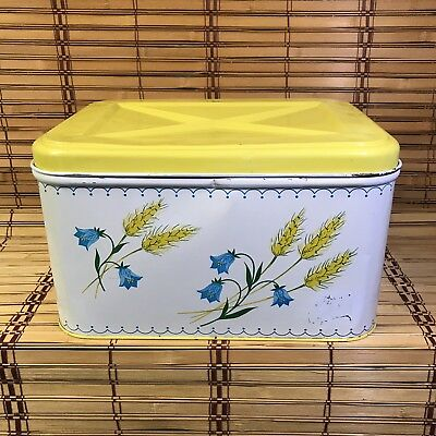 Colorware Metal Bread Box Hinged Lid Vintage Collectable Impress your friends