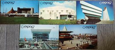 1967 - Lot of 5 - Chrome Postcards - EXPO 67 - Montreal, Canada - EX