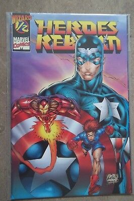 Wizard Marvel Comic Heroes reborn  #1/2 with COA Certificate of Authenticity
