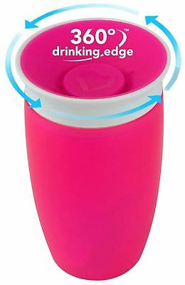 Munchkin MIRACLE 360 SIPPY CUP 296ML PINK Baby Feeding - BN