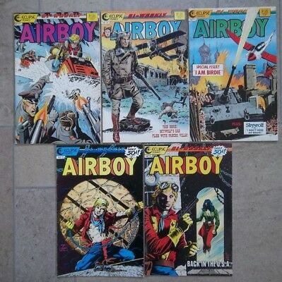 Lot of Airboy Comics from 1986 and 1987 Eclipse comics