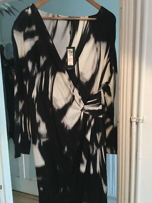 BNWT Marks and Spencer Autograph Size 22 Cross Front Stretch Dress