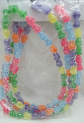 Miniature 4 feet Christmas Gumdrop Candy Garland - use for trees or craft beads