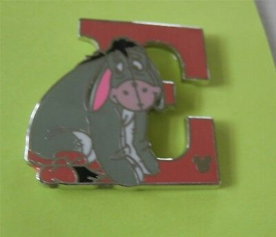 "E For Eeyore ""Winnie the Pooh"" Alphabet Letter Collection Disney Pin"
