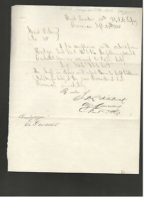 1895 Letter Re: Colored Troops In Florida, From Col. Hitchcock