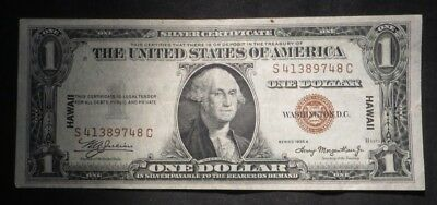 1934-A One Dollar $1 Hawaii Brown Seal Silver Certificate- UNC