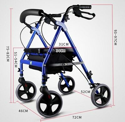 E186 Rugged Aluminium Luggage Trolley Hand Truck Folding Foldable Shopping Cart