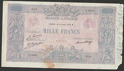 1000 Francs From France 1926