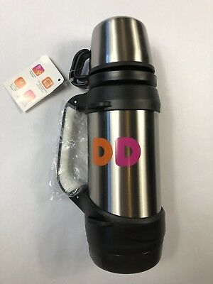 Dunkin Donuts 32oz Stainless Steel Vacuum Flask Thermos With Handle Nwt