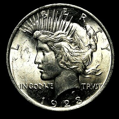 1923 P ~**UNCIRCULATED**~ Silver Peace Dollar US Old Rare Coin! #917