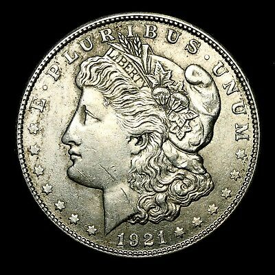 1921 S ~**ABOUT UNCIRCULATED AU**~ Silver Morgan Dollar Rare US Old Coin! #A68