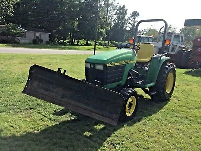 Nice  John Deere 4300  4X4   Tractor  With Front Blade Only  966 Hours