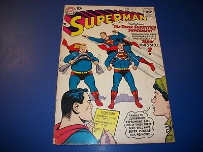 Superman #115 Silver Age Comic Nice Looking 10 cent book VG+