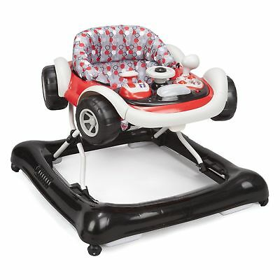 Delta Children Lil Drive Play Car Style Rolling Baby Bouncer Walker, Brody Grey